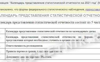 Образец заполнения формы 57Т в статистику 2021