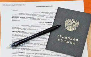 Трудовой договор без официального трудоустройства